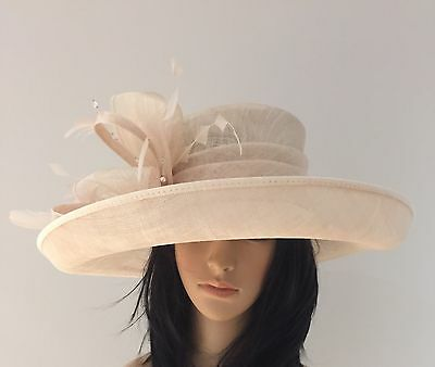Failsworth Oatmeal Ascot Wedding Hat Formal Occasion Mother Of The Bride