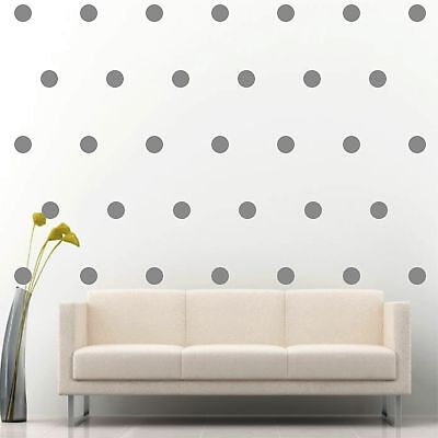 "200 of 2"" Silver Polka Dots Circle Peel Stick Removable Wall Vinyl Decal Sticker"