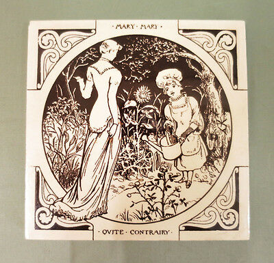 Minton Tile- Nursery Rhyme Series - Mary Mary Quite Contrary