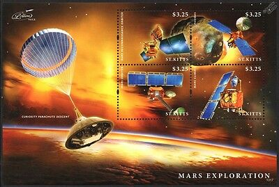 MARS Surface Exploration/Curiosity/Orbiter/Climate/PHOBOS Space Stamp Sheet
