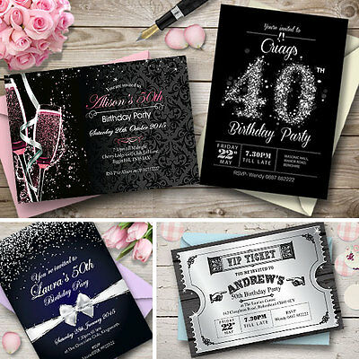 Personalised birthday invitations party invites 18th 21st 30th personalised birthday invitations party invites 18th 21st 30th 40th 50th 60th filmwisefo