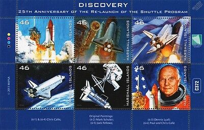 NASA Space Shuttle DISCOVERY / John Glenn Astronaut / Space Stamp Sheet