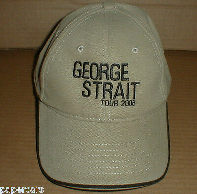 2 New George Strait 2006 Texas Country Music Concert Tour baseball hat lot