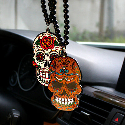 Pendant Ornament Rear view Mirror JDM Hellaflush acrylic skull badge BM10803