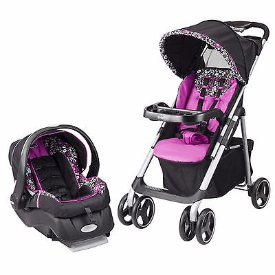 Strollers With Car Seat Evenflo  Embrace in Daphne Baby Stroller and Car Seat