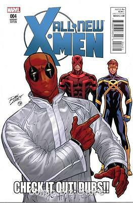 All New X-Men #4 (2016) 1St Printing Scarce 1:10 Lim Deadpool Variant Cover