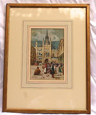 Magnificent English 1900's Water Color Painting By C.g. Philips Listed Artist