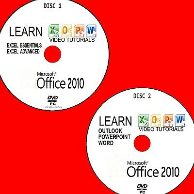 LEARN MICROSOFT OFFICE 2010 EFFECTIVE VIDEO TUTORIAL NEW 2X PCDVD WORD EXCEL Etc