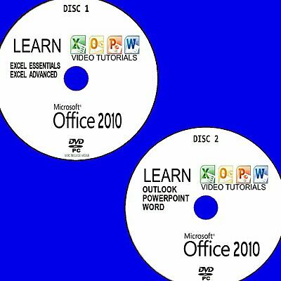 LEARN MICROSOFT OFFICE 2010 SIMPLE VIDEO TUTORIAL NEW PC DVD WORD POWERPOINT Etc