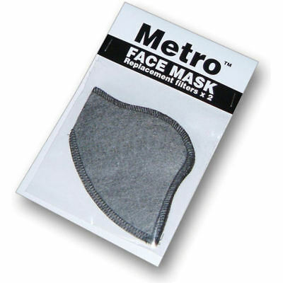 Respro Metro Anti-Pollution Face Mask Replacement Spare Filters 2 Pack Large