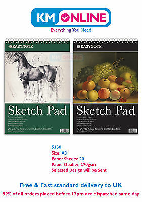 EasyNote A3 Artists Sketch Pad Premium Quality Paper for Drawing Sketching 5130