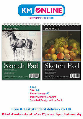 EasyNote A5 Artists Sketch Pad Premium Quality Paper for Drawing Sketching 5132