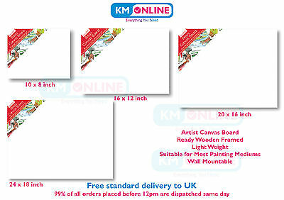 Stretched Canvas Board Wooden Framed for Artist Drawing, Paining Wall Mountable