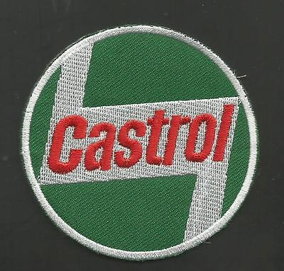 "Castrol   2 7/8   "" Patch  Green Backround"