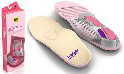 SPENCO POLYSORB TOTAL SUPPORT FOR HER Athletic Sport Insoles Women Ladies Pink