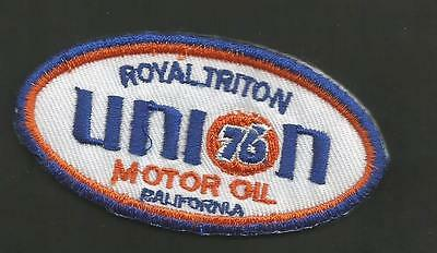 "Union 76  Royal Triton Motor Oil California  1 5/8 X  3 1/4    "" Patch"
