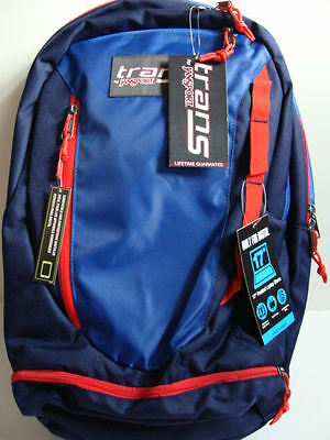 3313184c00bc NWT JANSPORT TRANS CAPACITOR Blue Backpack 17
