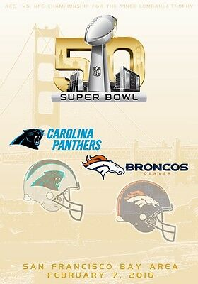 SUPER BOWL 50 Carolina Panthers Vs. Denver Broncos PHOTO Print POSTER NFL 050