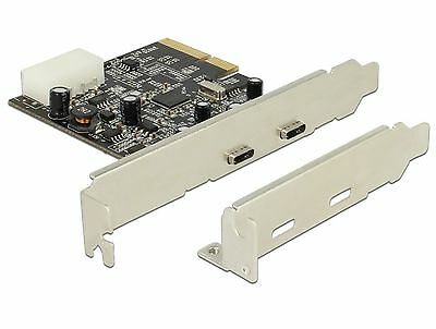 Delock PCI Express x4 Karte  2x extern SuperSpeed 10 Gbps USB 3.1 Type-C 89442