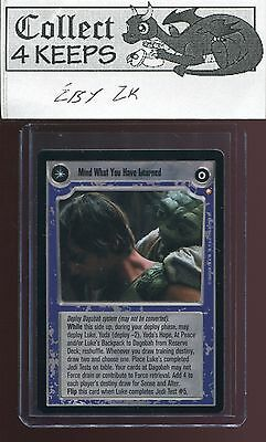 Star Wars CCG Mind What You Have LearnedSpecial EditionMint Bonus!
