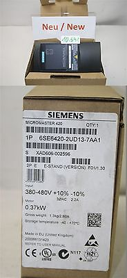 Siemens 6SE6420-2UD13-7AA1 Frequency Converter Micromaster 420 0,37KW