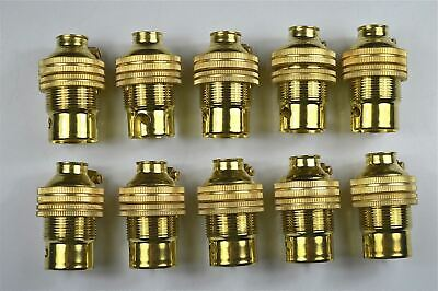 10 brass bayonet B22 bulb holder earth lamp holder shade ring 1/2 inch entry L3