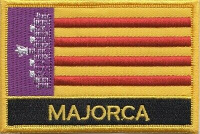 Spain Balearic Islands Majorca Mallorca Flag Embroidered Patch - Sew or Iron on