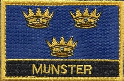 Munster Province of Ireland Flag Embroidered Patch Badge - Sew or Iron on