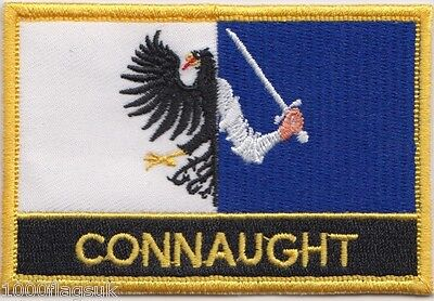 Connaught Province of Ireland Flag Embroidered Patch Badge - Sew or Iron on
