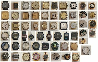 (2) Orologio - Calibro - Movimento Vintage Work /To Spare Parts or Repair