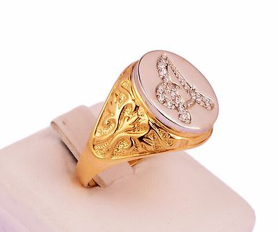 Anello Da Uomo In Oro 18 Carati Kt (750‰) Varie Lettere. Solid Gold Ring Man