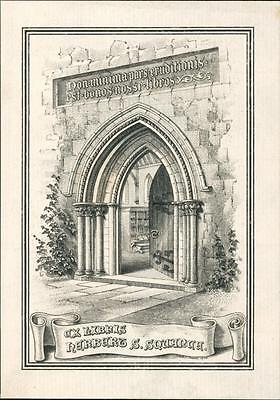 Herbert S. Squance.   Bookplate by Harry Soane 1905.     QR461