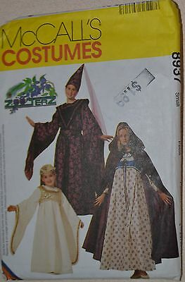 McCall's Childrens GIRLS & Misses MEDIEVAL Costume Pattern 8937 Sz.31 1/2-32 1/2