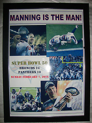 Denver Broncos 24 Carolina Panthers 10 - 2016 Super Bowl 50 - framed print