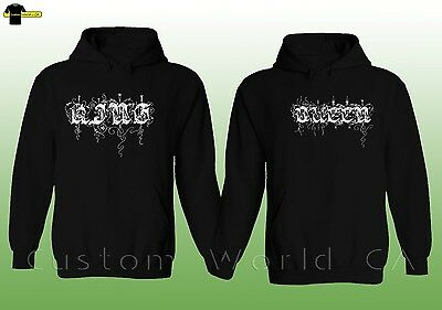 Couple Hoodie - NEW King & Queen His and Hers - Couple LOVE Matching Hoodie