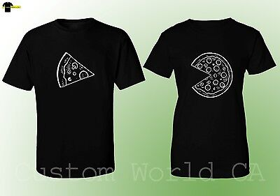 Couple Matching Love T-Shirts - Pizza Slice - His and Hers New Design Tees