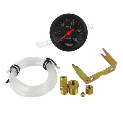 "GENUINE New Speco Meter 2"" Mechanical Oil Pressure Gauge Black 533-16"