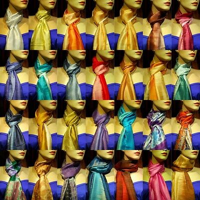 149pcs BULK LOT Thai Silk Scarves RRP$4850 Wholesale Handmade Wedding Gift Scarf