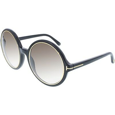 Tom Ford Women's Gradient Carrie FT0268-01F-59 Black Round Sunglasses