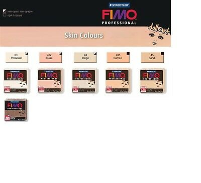 FIMO PROFESSIONAL - DOLL ART - 85g OVEN BAKE CLAY SKIN COLOURS    £2.45 to £2.65