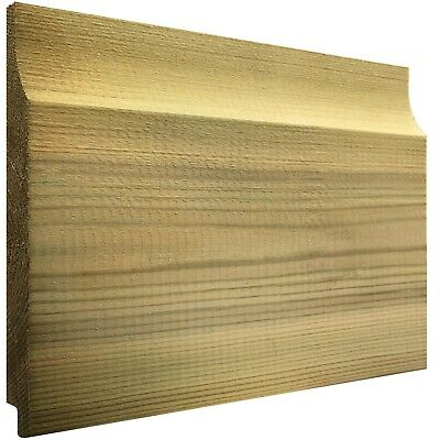 150mm x 15mm Thick Treated Wooden Shiplap Cladding Boards 1.2m, 1.8m, 2.4m, 3.0m