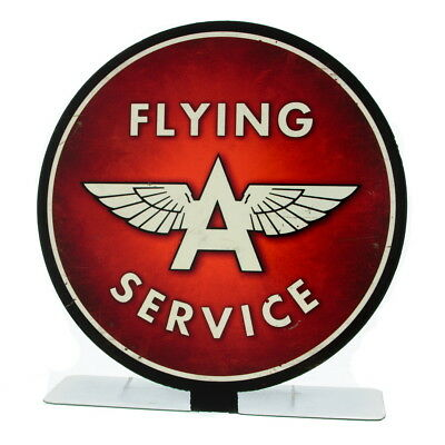 Flying A Service Tydol Metal Tabletop Sign Vintage Style Garage Decor 8 x 8