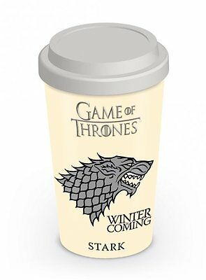 *new* Official Game Of Thrones (House Stark) - Travel Mug By Pyramid Mgt22867