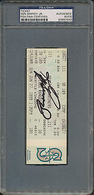 Ken Griffey Jr. Signed Final Kingdome Game Ticket 6-27-99 PSA/DNA Certified Auto