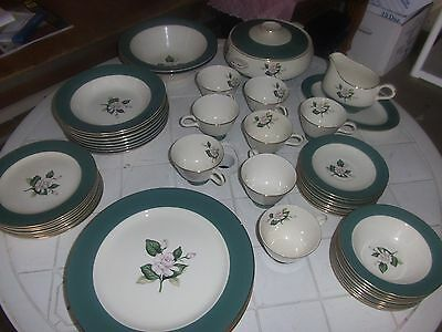 homer laughlin emerald dish set of 54 pcs. service for 8