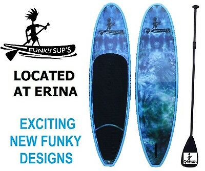 Stand Up Paddle Board FUNKY SUP PACKAGE with Paddle 'Grovin Bluz' 10' 10'6 11'2