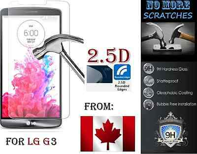 2.5D 9H Premium REAL Tempered Glass LG G3 HD clear Screen Protector Vitre trempé
