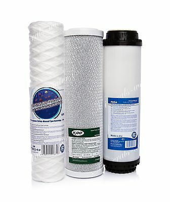 Set Of 5 Micron String•carbon Block•activated Filter•reverse Osmosis•replacement