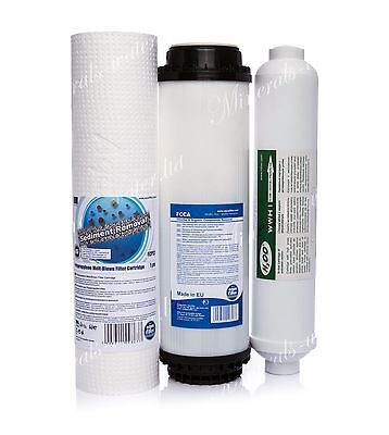 Set Of 1 Micron Sediment•activated Carbon•inline•reverse Osmosis•replacement•