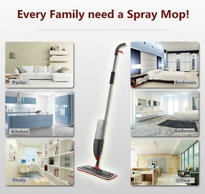Trigger spray Water Spraying Mop Flat Spray Mop 1/2 MICROFIBER PAD New latest